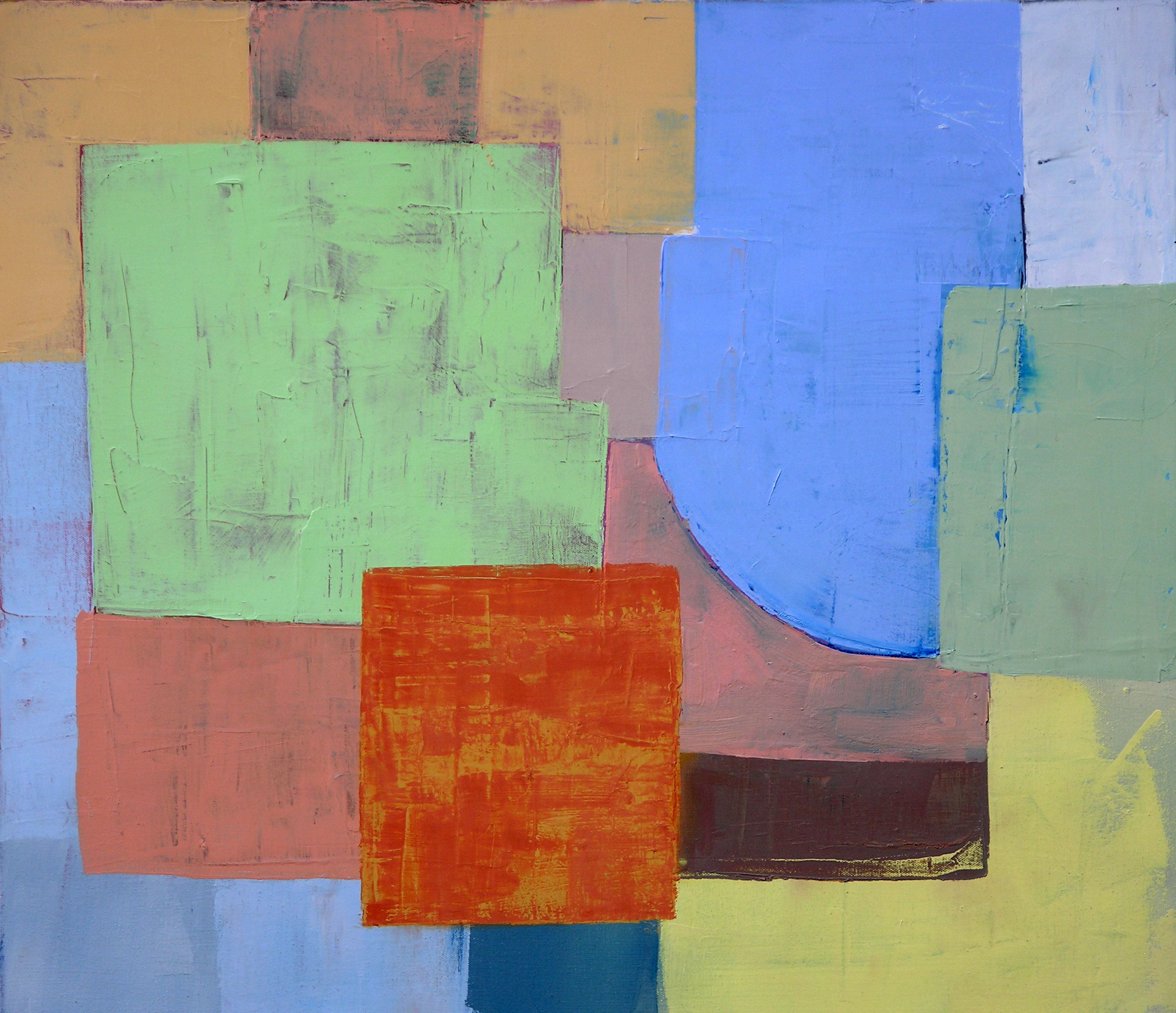 Abstract Geometric, minimalist oil painting landscapes ...